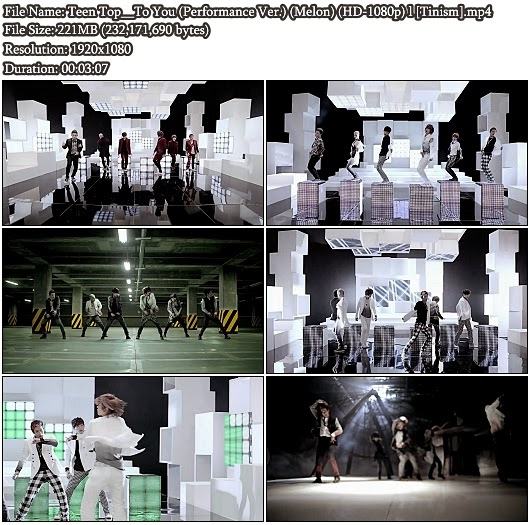 Download MV Teen Top (틴탑) - To You (Performance Version) (Melon Full HD 1080p)
