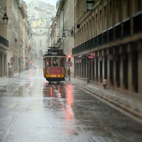 In Lisbon rain