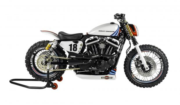 Harley XL883R| Harley Sportster XL883R | Custom Harley Sportster XL883R | Martini Bikes | Shaw Speed And Custom