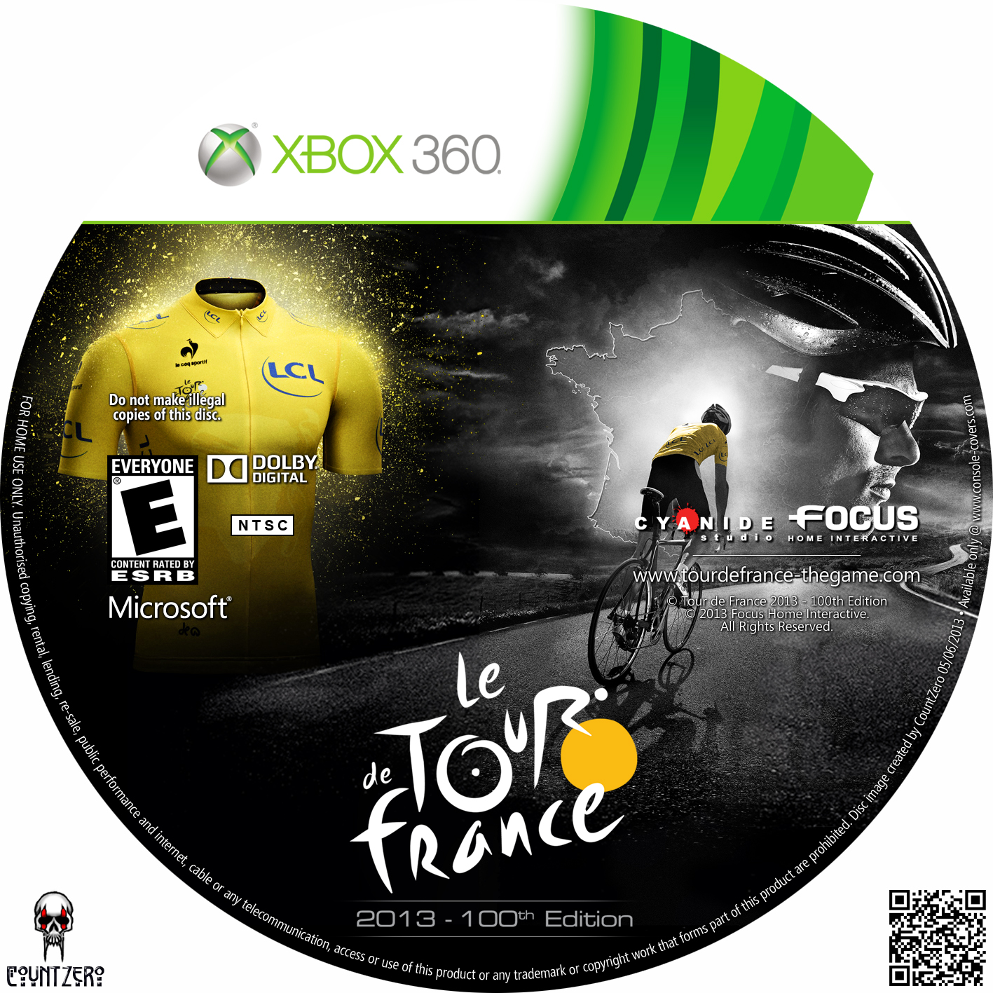 label le tour de france 2013 100th edition xbox 360 gamecover capas customizadas para dvd e. Black Bedroom Furniture Sets. Home Design Ideas