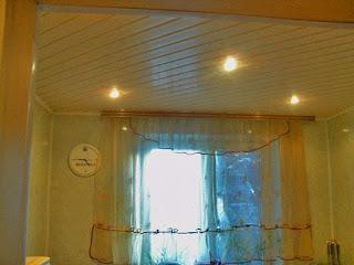 Потолки отделаны евро панелью фото