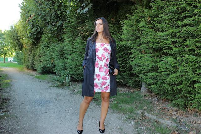 robe comptoir des cotonniers pour le Printemps, sac Jonak, manchette or