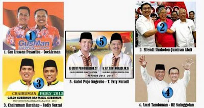 hasil quick count pilkada sumatera utara 2013