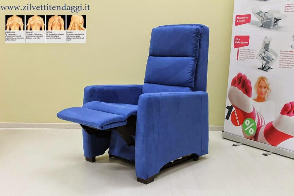 Poltrona massaggio shiatsu relax 2 motori indipendenti con lift