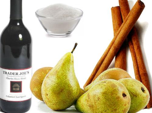 receta peras con vino