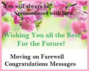 Wishes for farewell