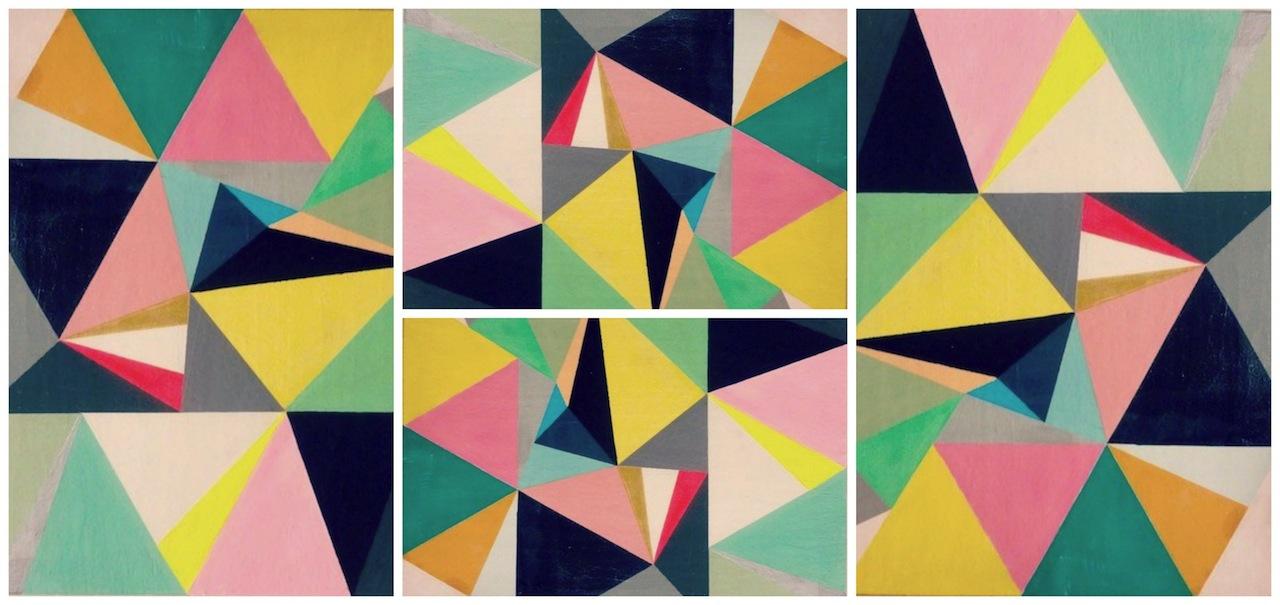 Assez A faire soi-même ▽Tableau triangles△ - Valy's blog ET11