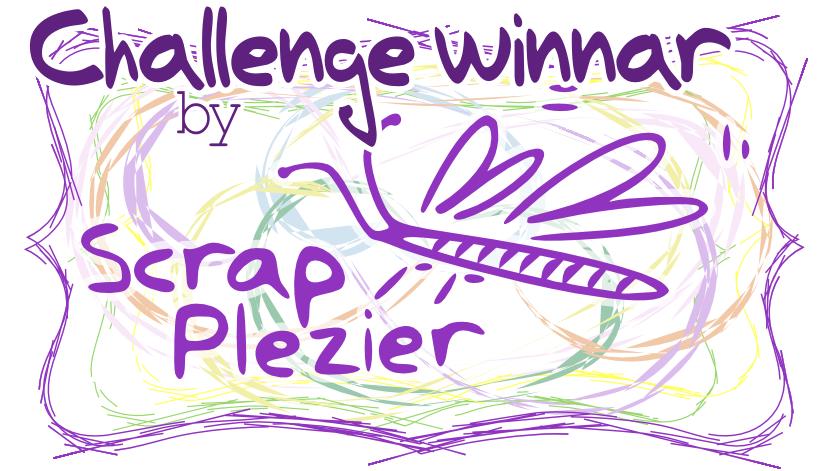 Challengewinnaar bij ScrapPlezier!