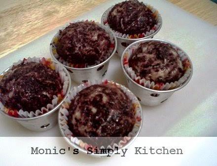 resep muffin kukus ketan hitam keju