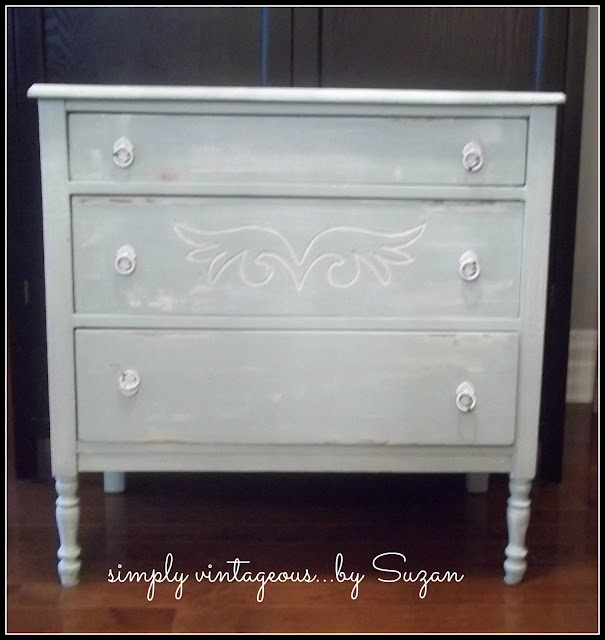 shabby, antique, makeover, chalk paint, annie sloan, white, aqua, before, after