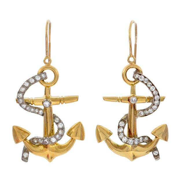Gold Anchor Earrings5