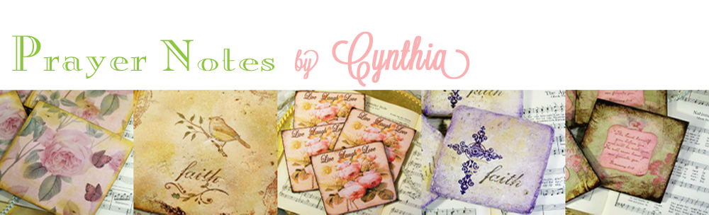 Prayer Notes by Cynthia