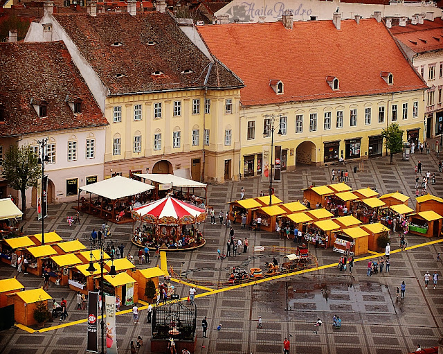 panorama piata mare targ paste turnul sfatului