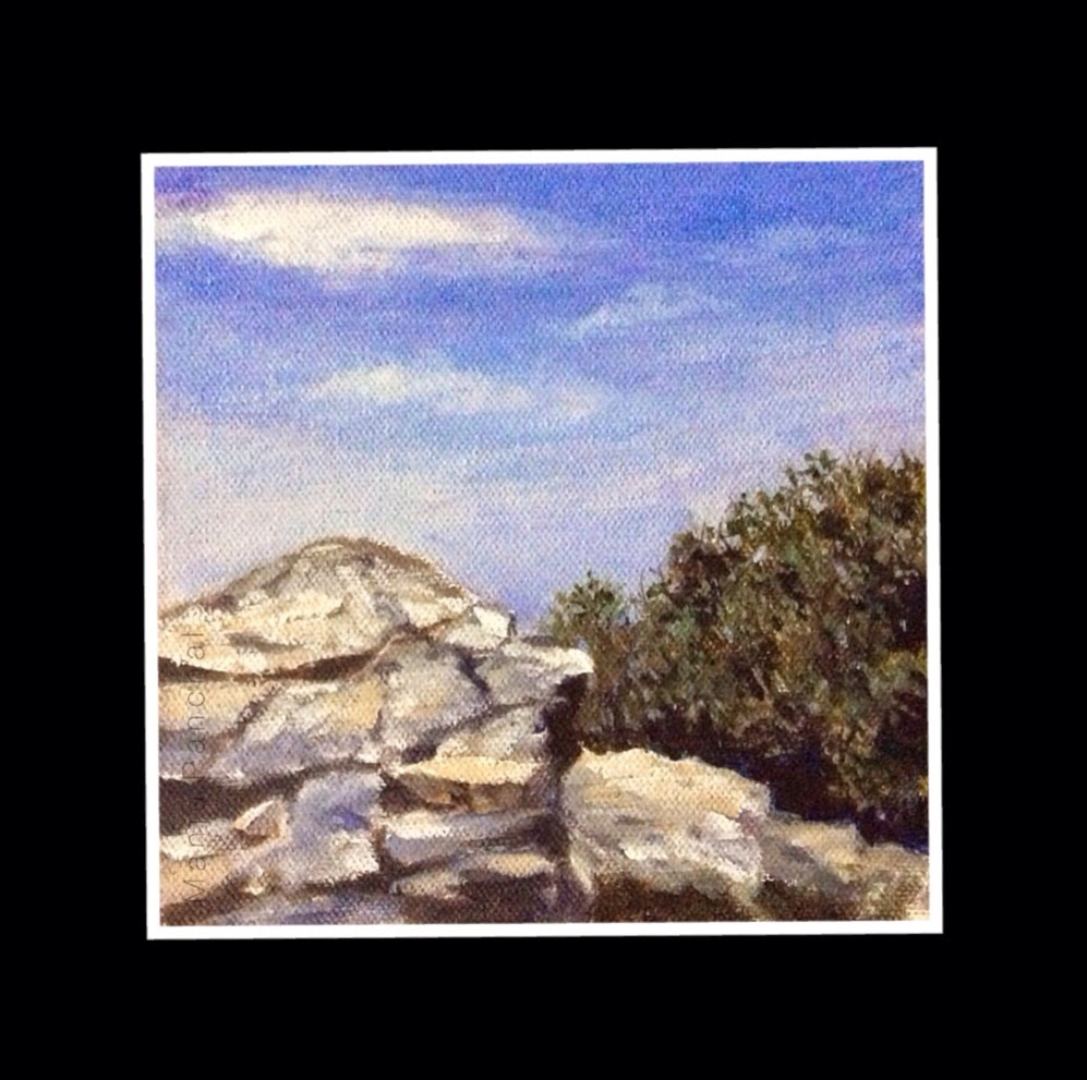 Hatu peak in Narkanda painted in acrylics by Manju Panchal