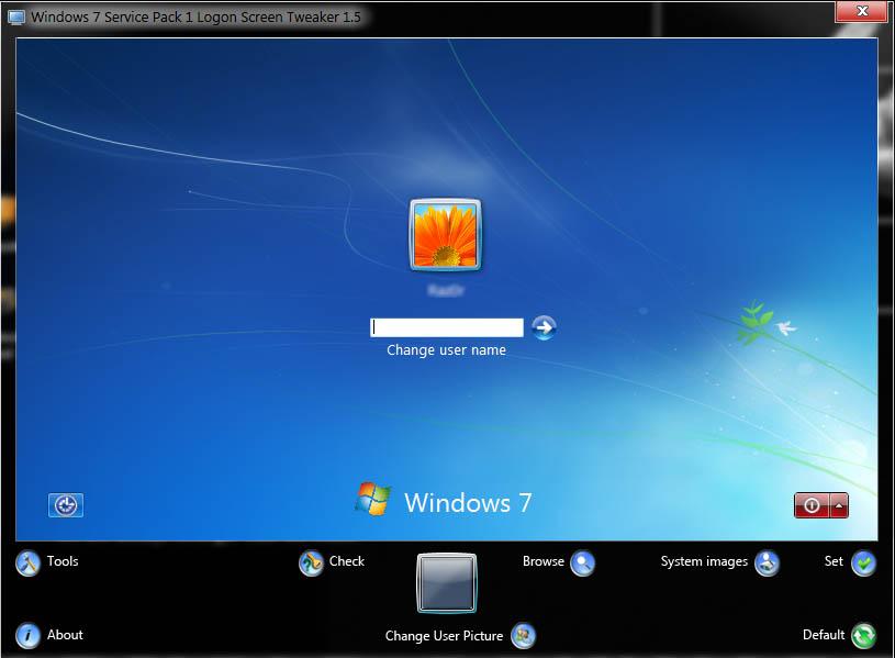 window screens windows 7 change logon screen