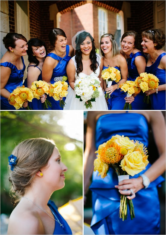 Colour Scheme: Blue and Yellow ~ Wedding Bells