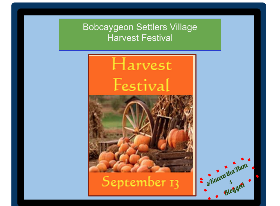 Bobcaygeon Kawartha Lakes Harvest Festival Sept 13