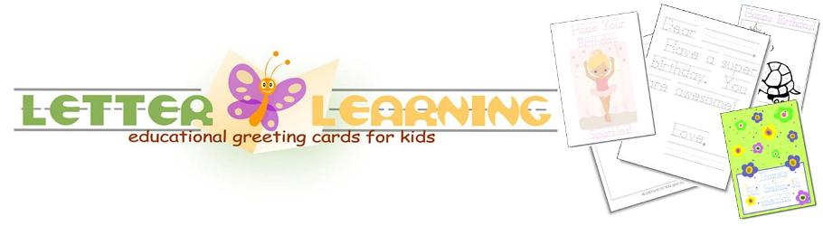Letter Learning: Educational Greeting Cards for Kids