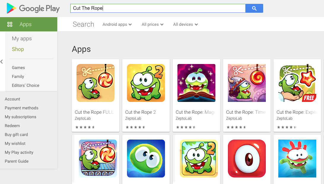 3. Aplikasi Cut The Rope