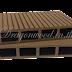 ไม้เทียม ปูพื้นแบบกลวง สีช็อกโกแลต ลายร่อง+ลายเสี้ยน กว้าง 10cm,13.5cm,14.6cm x หนา 2.5cm x ยาว 220cm,240cm,300cm