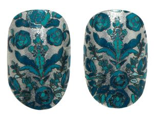 Detailed floral nail wraps by Marchesa for Revlon.