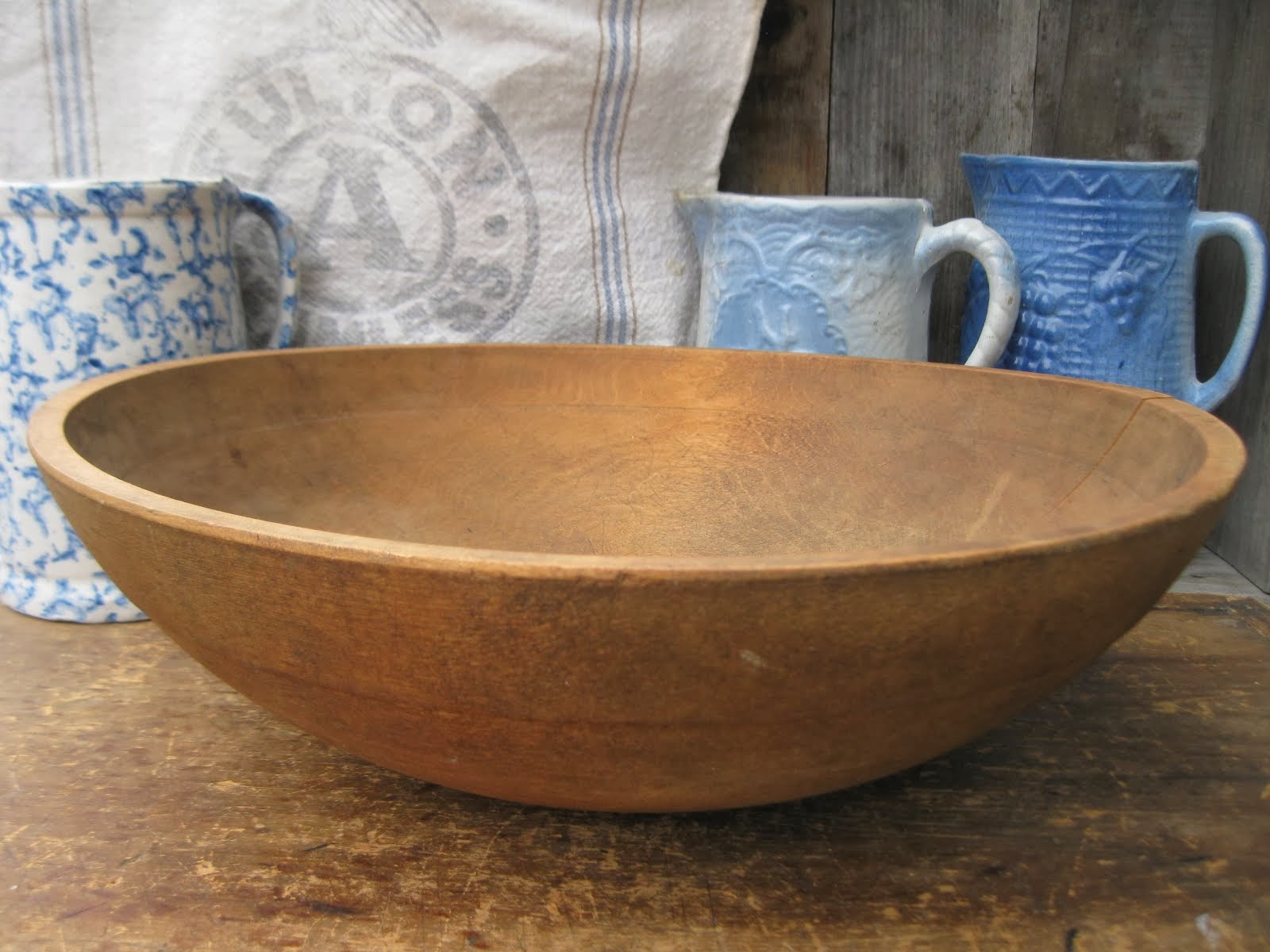 Big Old Dough Bowl w Wide Rim