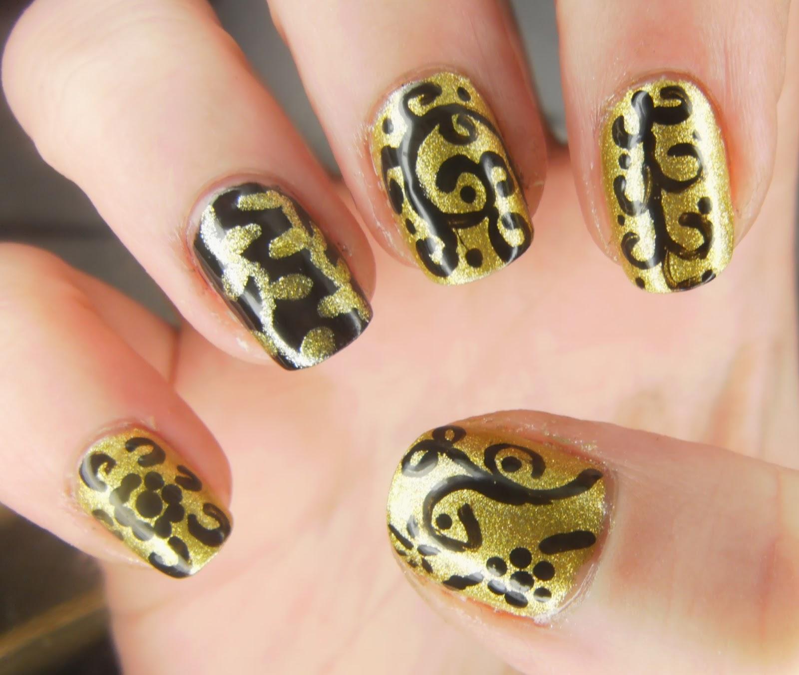 SpecialGirl Nails: Models Own Black Nail Art Pen And Gold
