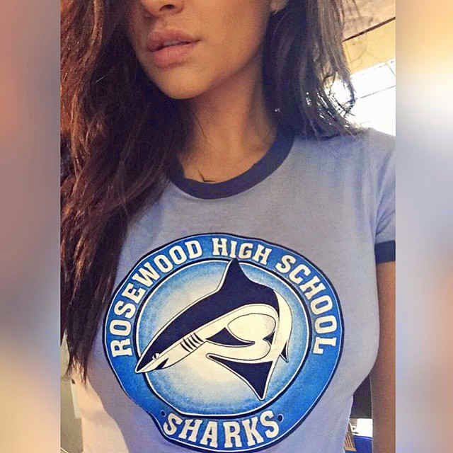 Shay Mitchell PLL Rosewood High Sharks