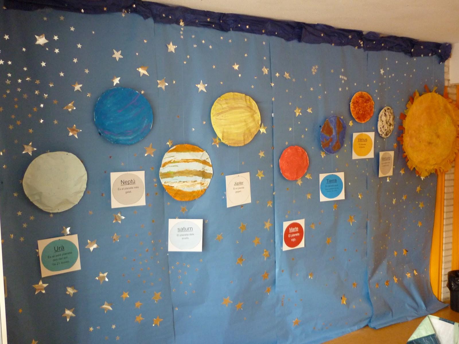 Piruleta colorines mural de el universo - Dibujos infantiles del espacio ...