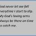 God Never Let Me Fall
