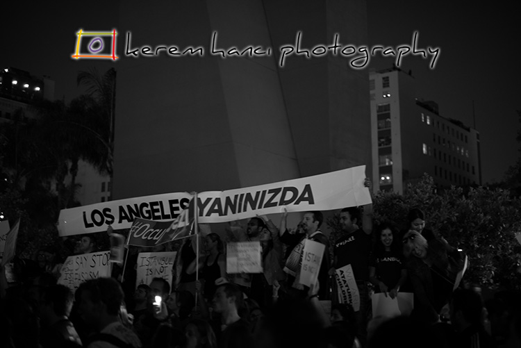 #OccupyGezi received moral support from Los Angeles