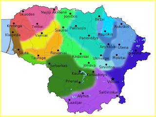 Diferentes dialectos del lituano