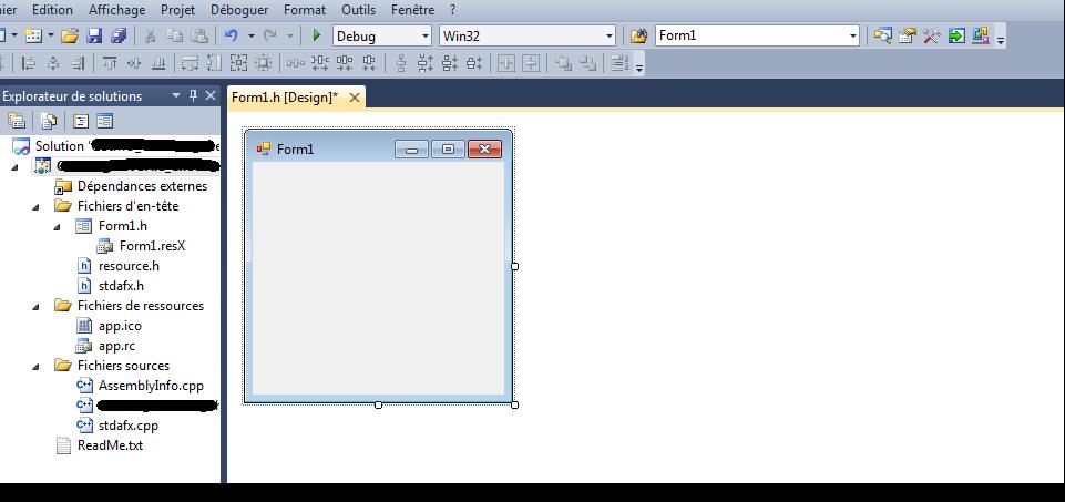 Vite fait bien fait 1 cr er un projet en visual c for Fenetre windows outils