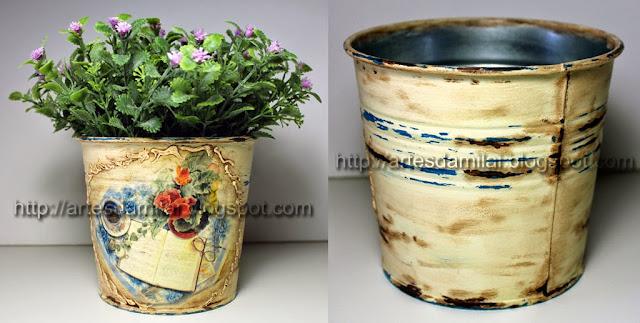Vaso pintado com tintas Chalky da Decoart