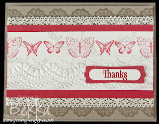 Card from a Thank You Kindly Box of Card - A Card Class by Stampin' Up! Demonstrator Bekka Prideaux - check out her classes at www.feeling-crafty.co.uk