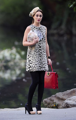 Leighton Meester Print Dress