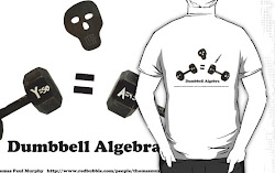 Dumbbell Algebra T shirt