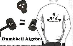 Dumbbell Algebra T shirt