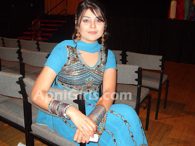 Beauty of Desi girls Punjab Girl In Blue Dress