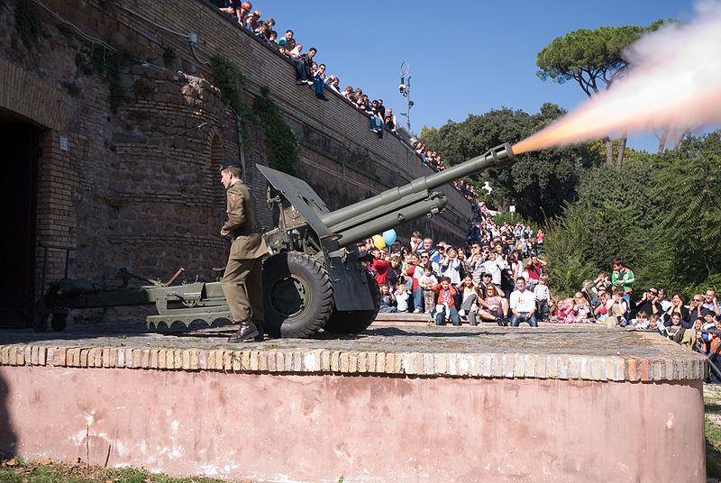 Il Gianicolo e lo sparo del cannone di mezzogiorno