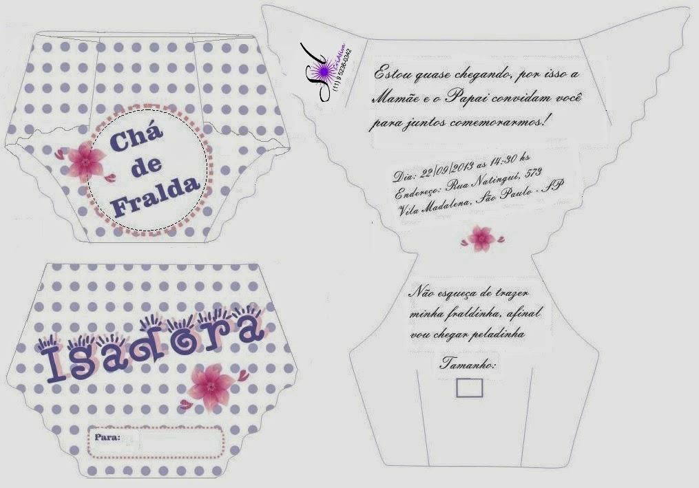 Fabuloso Sol CriAtiva: Chá de Fralda para meninas: Criação do convite  DC06