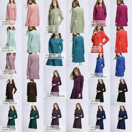 Koleksi TErbaru Long Tunic Dengan PElbagai Pilihan Warna Menawan MURAH SANGAT!