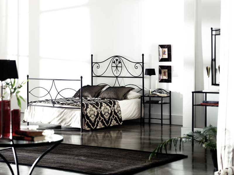 Muebles de forja camas de forja rustica for Cama de forja blanca