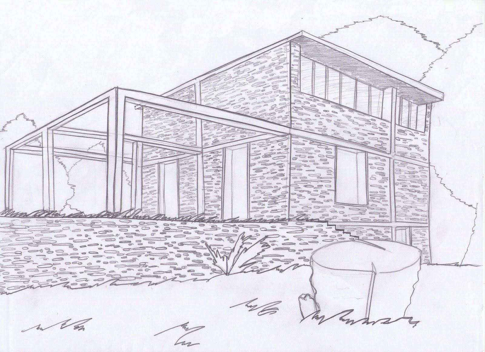 Casa de piedra dibujo - Dibujos de piedras ...
