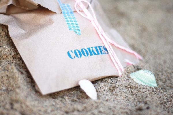 Selbstgemachte Cookies für das Strandpicknick