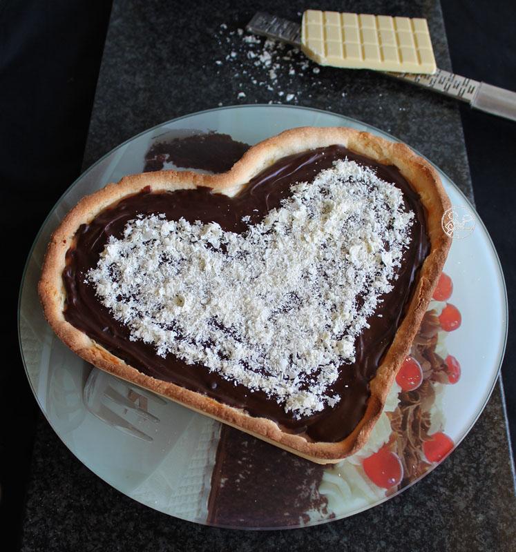 crostata con caramello e ganache al cioccolato