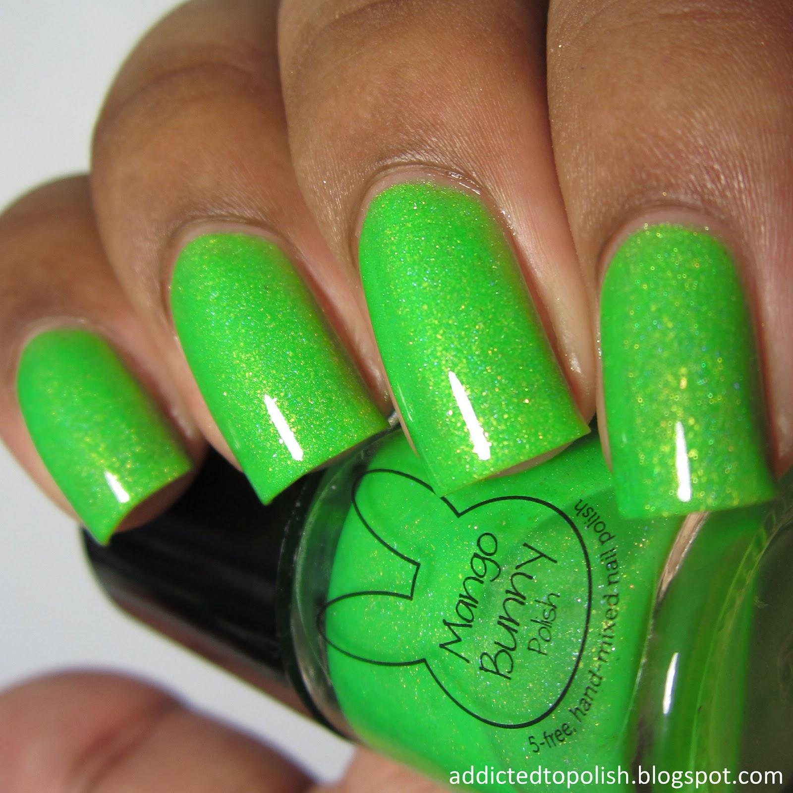 mango bunny polish #lushlyfe sunkissed neons
