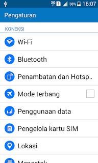 modem android dengan kabel USB