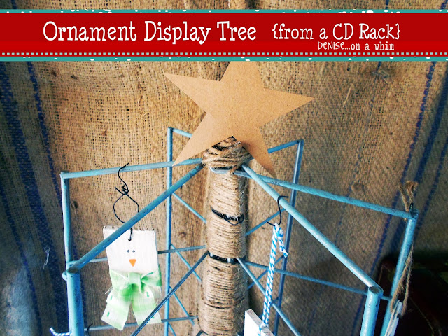 faux Christmas tree display | Denise.. on a whim