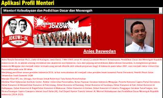 Aplikasi Profil Menteri Jokowi-JK Untuk Pendidikan